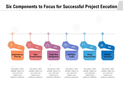 Six Components To Focus For Successful Project Eecution Ppt PowerPoint Presentation File Vector PDF