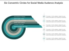 Six Concentric Circles For Social Media Audience Analysis Ppt PowerPoint Presentation Pictures Portrait