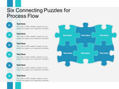 Six Connecting Puzzles For Process Flow Ppt PowerPoint Presentation Styles Ideas