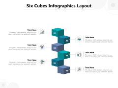 Six Cubes Infographics Layout Ppt PowerPoint Presentation Show Skills