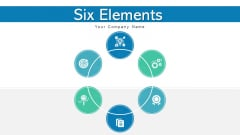 Six Elements Financial Performance Ppt PowerPoint Presentation Complete Deck With Slides