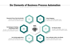 Six Elements Of Business Process Automation Ppt PowerPoint Presentation Inspiration Visual Aids
