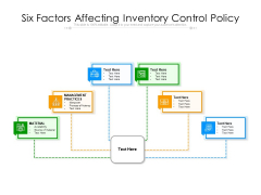 Six Factors Affecting Inventory Control Policy Ppt PowerPoint Presentation Gallery Influencers PDF