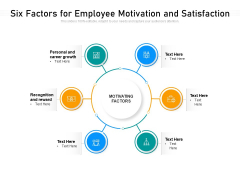 Six Factors For Employee Motivation And Satisfaction Ppt PowerPoint Presentation File Guide PDF