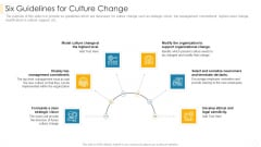 Six Guidelines For Culture Change Mockup PDF