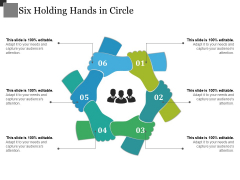 Six Holding Hands In Circle Ppt PowerPoint Presentation Slides Design Inspiration