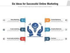 Six Ideas For Successful Online Marketing Ppt PowerPoint Presentation Styles Slide PDF