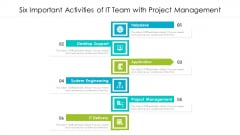Six Important Activities Of IT Team With Project Management Ppt PowerPoint Presentation File Tips PDF