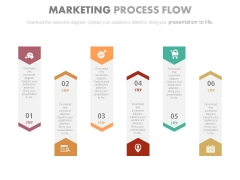 Six Infographic Tags For Integration Strategy Powerpoint Template