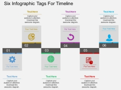 Six Infographic Tags For Timeline Powerpoint Templates