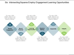Six Intersecting Squares Employ Engagement Learning Opportunities Ppt PowerPoint Presentation Ideas Templates