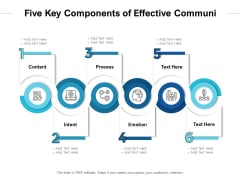 Six Key Components Of Effective Communication Ppt PowerPoint Presentation Portfolio PDF