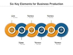 Six Key Elements For Business Production Ppt PowerPoint Presentation File Example PDF