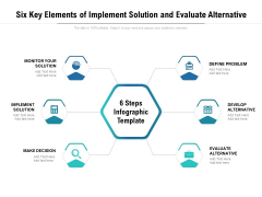 Six Key Elements Of Implement Solution And Evaluate Alternative Ppt PowerPoint Presentation File Professional PDF