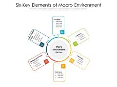 Six Key Elements Of Macro Environment Ppt PowerPoint Presentation File Templates PDF