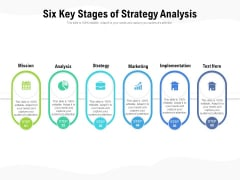 Six Key Stages Of Strategy Analysis Ppt PowerPoint Presentation Gallery Topics PDF