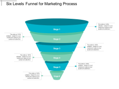 Six Levels Funnel For Marketing Process Ppt PowerPoint Presentation Summary Portrait