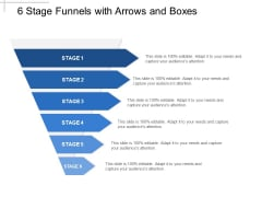 Six Levels Funnel For Sales Process Ppt PowerPoint Presentation Infographics Display