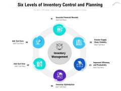 Six Levels Of Inventory Control And Planning Ppt PowerPoint Presentation Slides Example Introduction