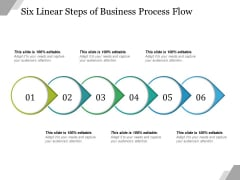 Six Linear Steps Of Business Process Flow Ppt PowerPoint Presentation Styles Graphics Template