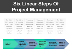 Six Linear Steps Of Project Management Ppt PowerPoint Presentation Ideas Sample