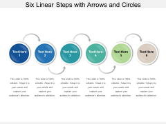 Six Linear Steps With Arrows And Circles Ppt PowerPoint Presentation Infographics Graphics Design PDF