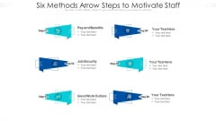 Six Methods Arrow Steps To Motivate Staff Ppt PowerPoint Presentation Icon Professional PDF