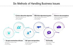 Six Methods Of Handling Business Issues Ppt PowerPoint Presentation Infographic Template Aids