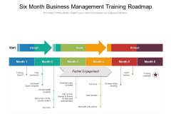 Six Month Business Management Training Roadmap Introduction