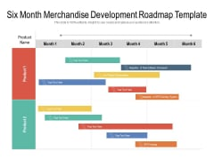 Six Month Merchandise Development Roadmap Template Summary