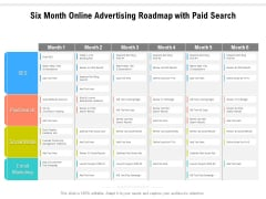 Six Month Online Advertising Roadmap With Paid Search Mockup