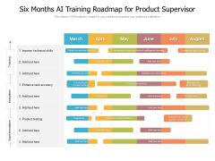 Six Months AI Training Roadmap For Product Supervisor Portrait