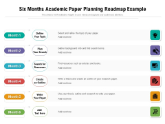 Six Months Academic Paper Planning Roadmap Example Download
