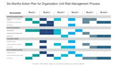 Six Months Action Plan For Organization Unit Risk Management Process Graphics