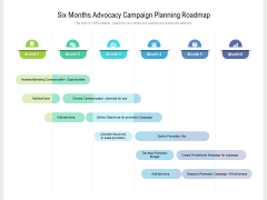 Six Months Advocacy Campaign Planning Roadmap Icons