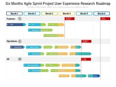 Six Months Agile Sprint Project User Experience Research Roadmap Topics