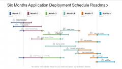 Six Months Application Deployment Schedule Roadmap Slides