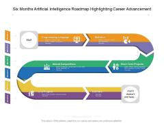 Six Months Artificial Intelligence Roadmap Highlighting Career Advancement Brochure