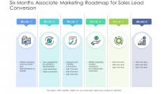 Six Months Associate Marketing Roadmap For Sales Lead Conversion Introduction PDF