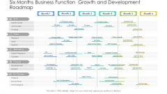 Six Months Business Function Growth And Development Roadmap Demonstration PDF