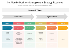 Six Months Business Management Strategy Roadmap Download