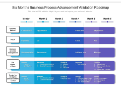 Six Months Business Process Advancement Validation Roadmap Themes