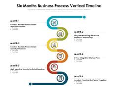 Six Months Business Process Vertical Timeline Ppt Model Design Inspiration PDF