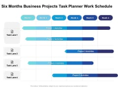Six Months Business Projects Task Planner Work Schedule Download