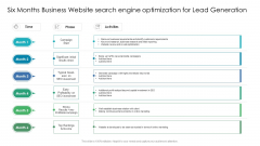 Six Months Business Website Search Engine Optimization For Lead Generation Guidelines