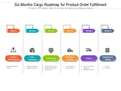 Six Months Cargo Roadmap For Product Order Fulfillment Brochure