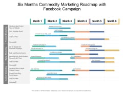 Six Months Commodity Marketing Roadmap With Facebook Campaign Icons