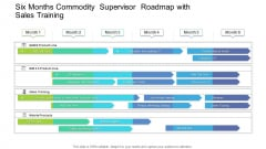 Six Months Commodity Supervisor Roadmap With Sales Training Formats