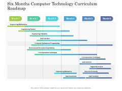 Six Months Computer Technology Curriculum Roadmap Designs