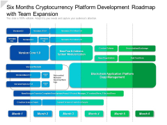 Six Months Cryptocurrency Platform Development Roadmap With Team Expansion Sample